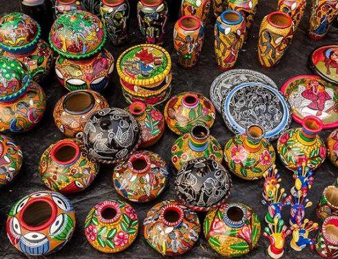 jaipur painting on pot